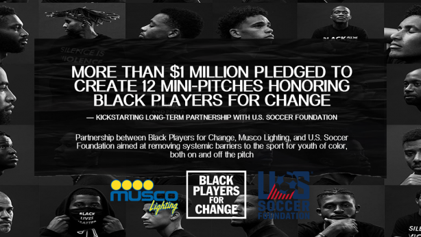 Musco Lighting, Quincy Amarikwa, Justin Morrow, US Soccer Foundation, Black Players For Change